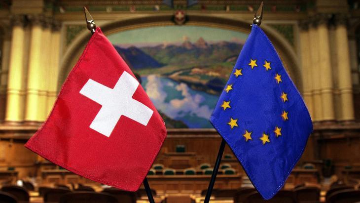 Symbolbild Schweiz - EU; Foto: picture-alliance/dpa