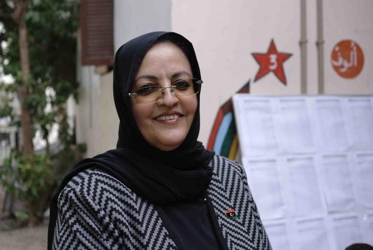 Asma Al-Usta, Kandidatin für den Wahlbezirk 10 in Tripolis; Foto: Valerie Stocker