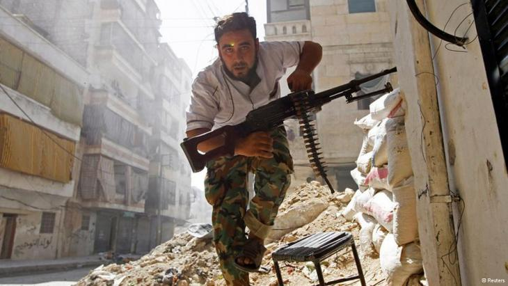 FSA-Kämpfer in Aleppo; Foto: Reuters