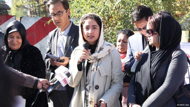 Abgeordnete Farkhunda Zahra Naderi; Foto: DW/H.Sirat