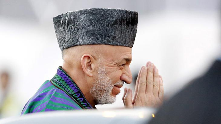 Afghanischer President Hamid Karzai; Foto: picture-alliance/dpa