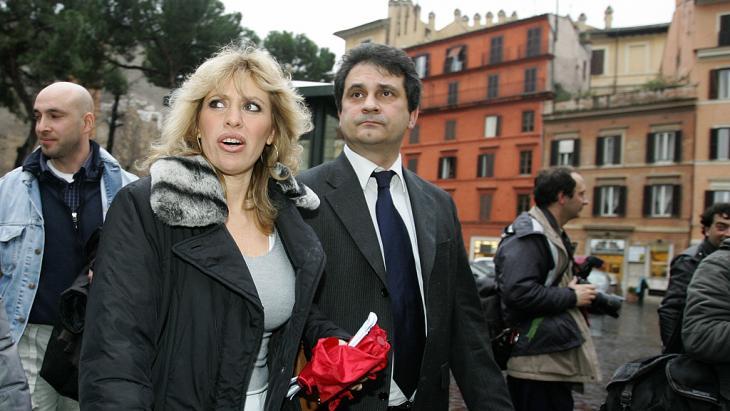 Alessandra Mussolini (l.) und Roberto Fiore; Foto: Getty Images