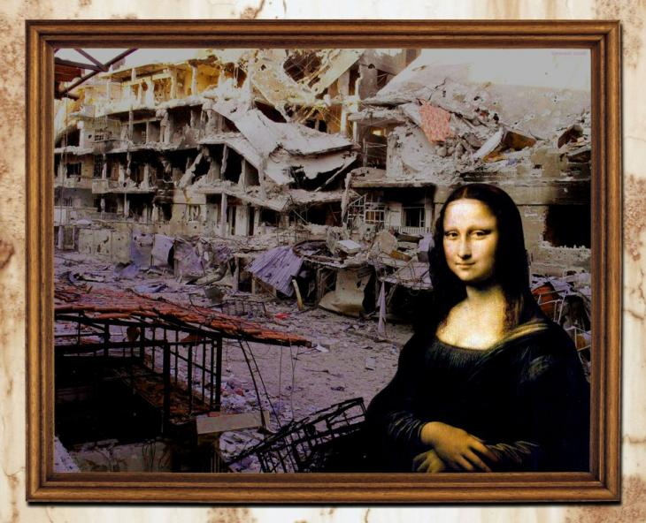 Tammam Azzams Bildmontage der Mona Lisa; Quelle: Tammam Azzam