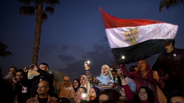 Demonstranten am 8. Februar 2011 auf dem Tahrir-Platz in Kairo; Foto: AP