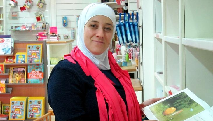 Leiterin des Buchladens Hakawati, Bayan Titi; Foto: Claudia Mende