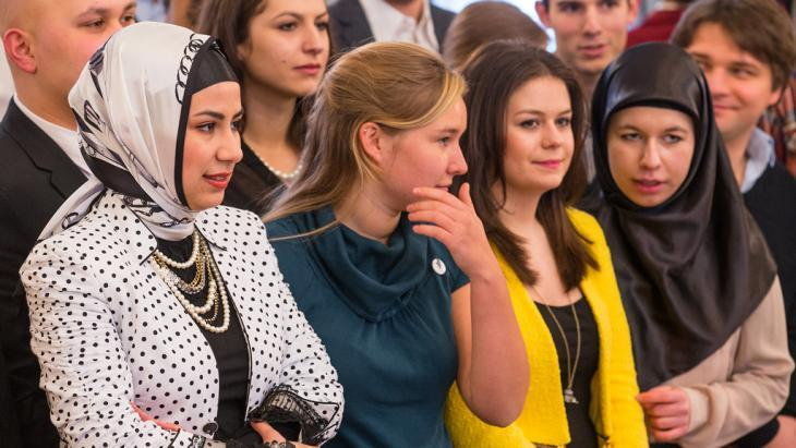 Young people attending the German Islam Conference (photo: dpa/picture-alliance)