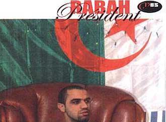 """CD-Cover """"Rabah Président"""" der algerischen Hip-Hop-Gruppe """"Le Micro Brise la Silence"""""""