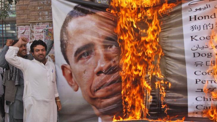Demonstration der islamistischen Awami Majlis-e-Amal im pakistanischen Quetta gegen die USA; Foto: AP