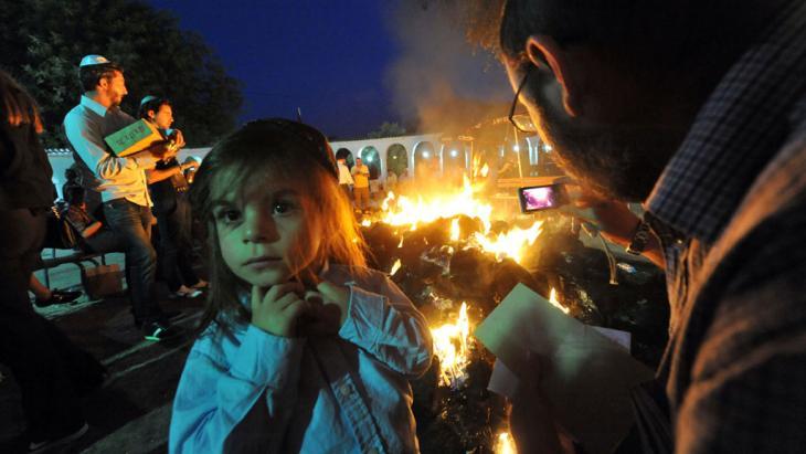 Feierlichkeiten vor dme Beginn einer jüischen Pilgerreise zum Grab von Rabbi Amram ben Diwan in Asjen in Marokko; Foto: Abdelhak Senna/AFP/GettyImages