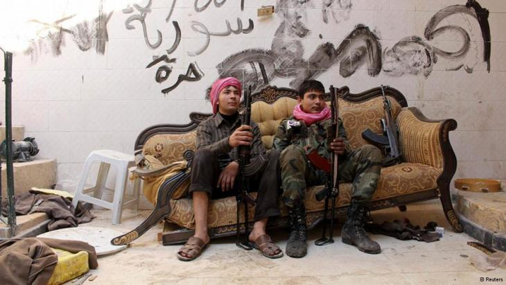 Young FSA rebels in Homs, Syria (photo: Reuters)