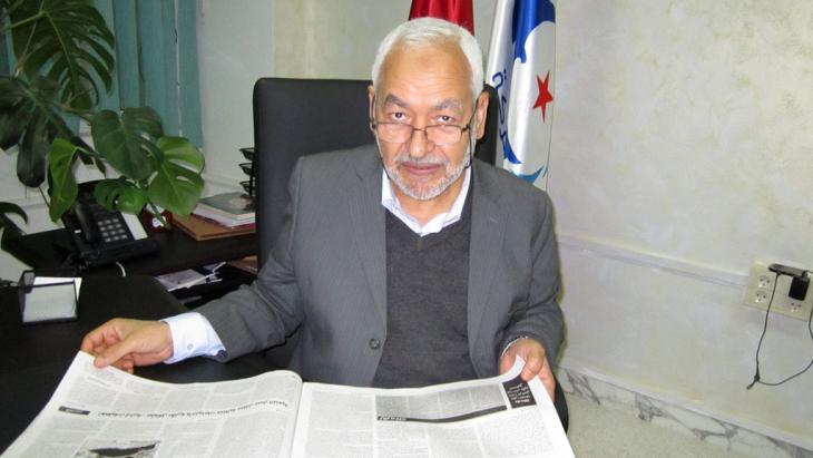 """Der Vorsitzende der islamistischen """"Ennahda""""-Partei, Rachid al-Ghannouchi, Foto: DW"""