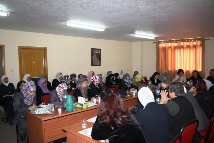 Sitzung des Frauenschattenrates in Ramallah; Foto: Palestinian Working Woman Society for Development (PWWSD)