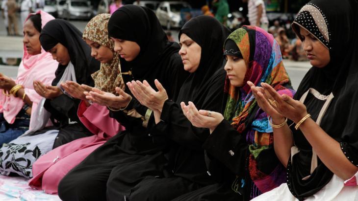 Indische Muslimas in Kalkutta; Foto: picture-alliance/AP