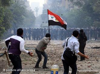 Zusammenstöße in der Mohamed-Mahmoud-Straße in Kairo im November 2011, Foto: dpa