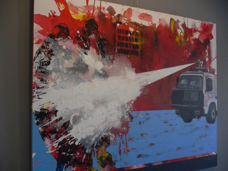 "Exponat Ausstellung ""Gezi - Come if you dare"" in Istanbul; Foto: Luise Sammann"
