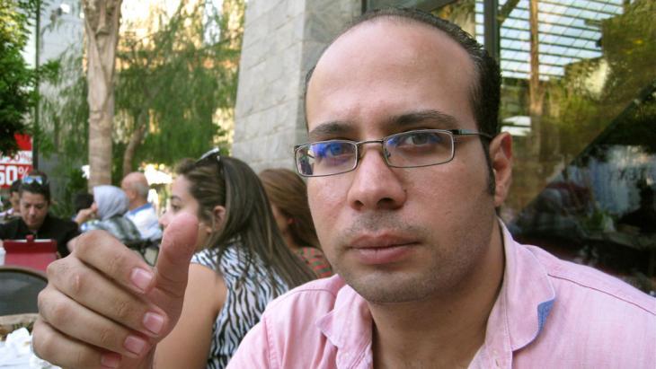 Ahmed Maher, Gründungsmitglied der ägyptischen Jugendbewegung 6. April in Kairo; Foto: dpa/picture-alliance