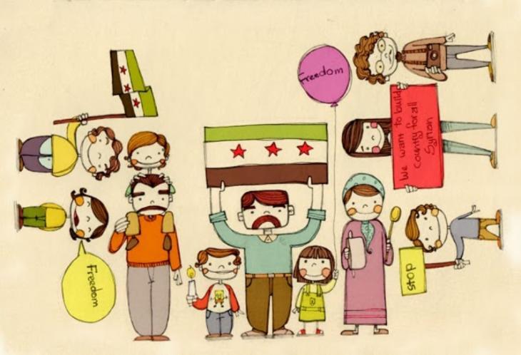 "Diala Brislys Bild ""Card for Syrian Children"""