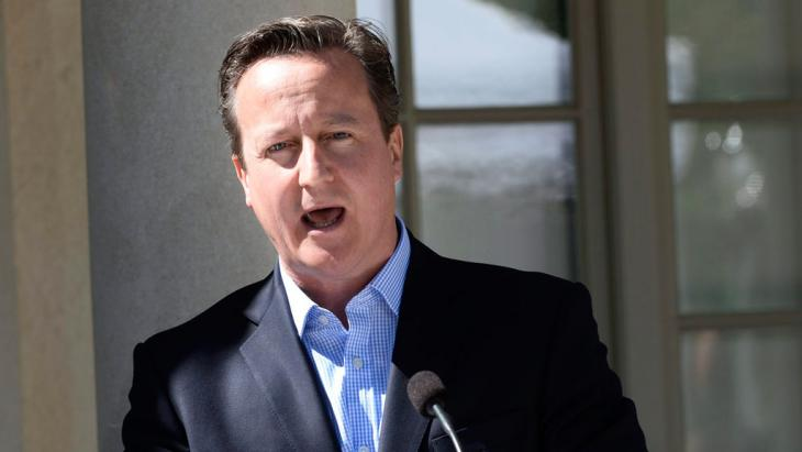 David Cameron speaks during a news conference near Stockholm, Sweden, on 10 June 2014 (photo: REUTERS/Maja Suslin/TT News Agency)
