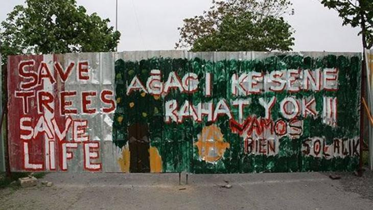 Wandmalereien am Gezi-Park in Istanbul; Foto: Ali Yildirim