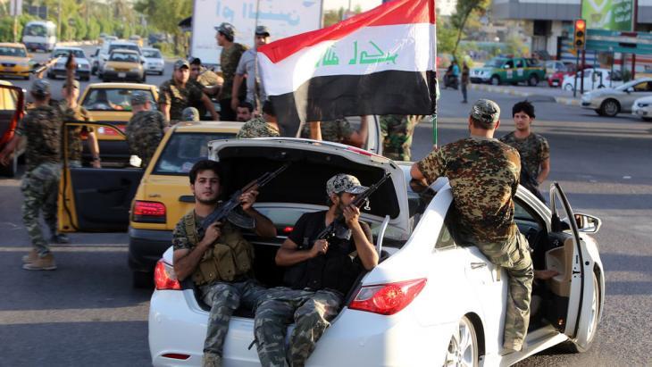 Mobilmachung schiitischer Milizen bei Bagdad, Foto: AFP/Getty Images