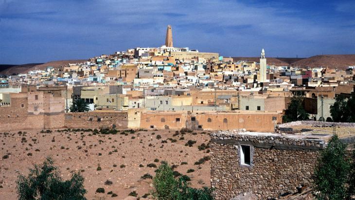 Ghardaia, Hauptstadt südlich von Algier gelegenen Mzab-Tals; Foto: dpa/picture-alliance