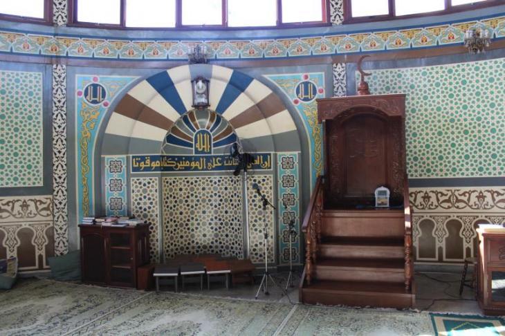 Blick auf den Mihrab der Moschee von Jundiaí; Foto: Ekrem Güzeldere
