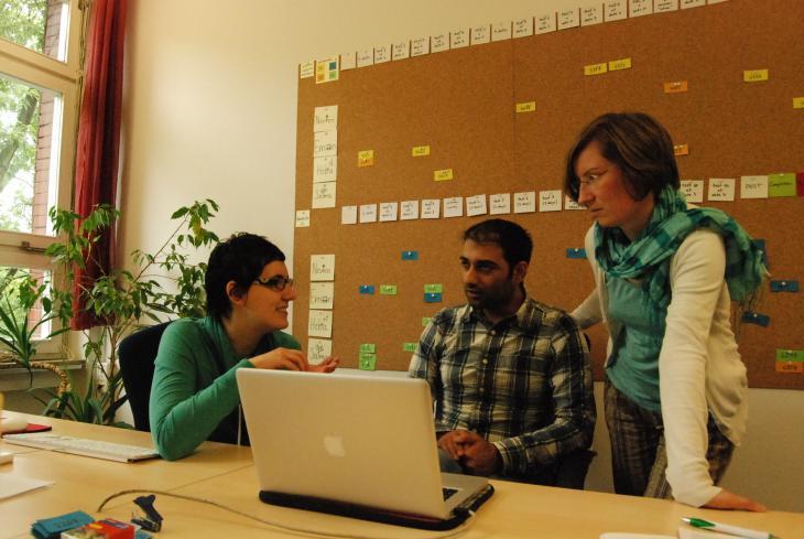 "Das Team aus Therapeuten der ""Ilajnafsy""-Traumatherapie; Foto: Iris Mostegel"