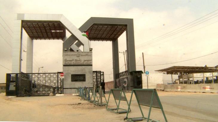 Der Grenzübergang in Rafah ist meist geschlossen; Foto: DW/Tanja Krämer