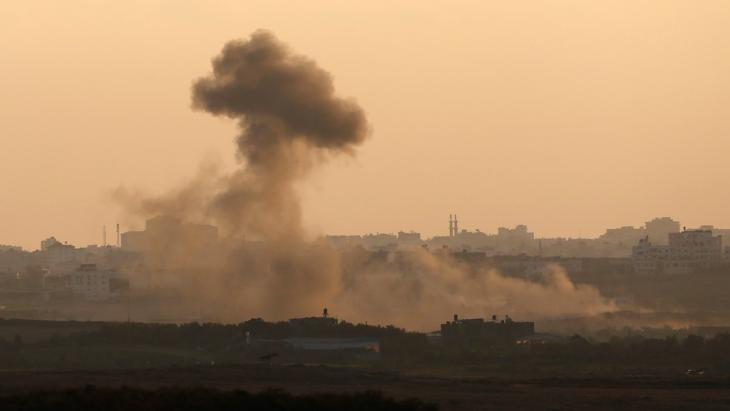 Beschuss Gazas durch die israelische Armee am 9.08.2014; Foto: Reuters