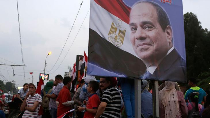 Anhänger von Ägyptens Präsident Abdelfattah al-Sisi in Kairo; Foto: Reuters