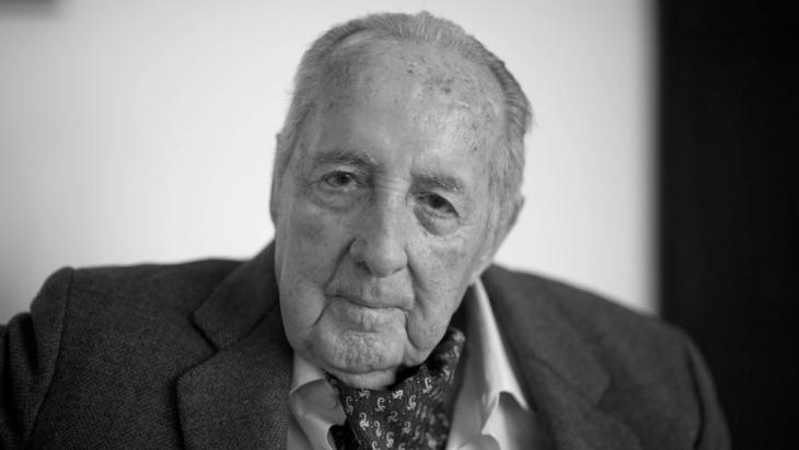 Peter Scholl-Latour im Februar 2014; Foto: picture-alliance/dpa