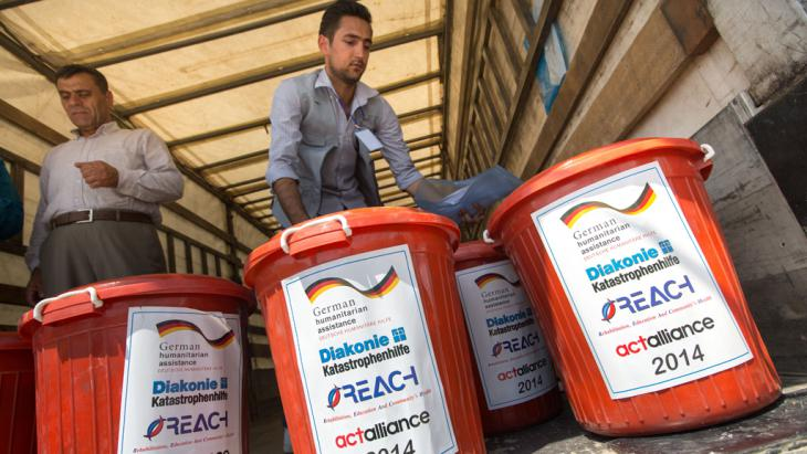 Deutsche Hilfsgüter in Erbil; Foto: picture-alliance/dpa