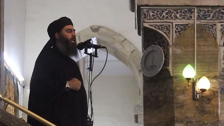 IS-Anführer Abu Bakr al-Baghdadi; Foto: picture alliance/abaca