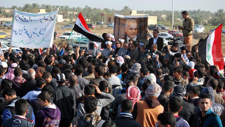 Demonstration von sunnitischen Stämmen aus Ramadi gegen die Regierung al-Maliki am 23. Dezember 2012; Foto: Joy Bhowmik