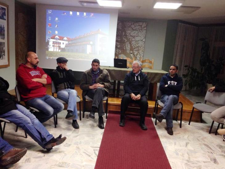 Professor Mohammed Dajani im Kreis der palästinensischen Teilnehmer der Reise nach Auschwitz und Krakau; Foto: privat