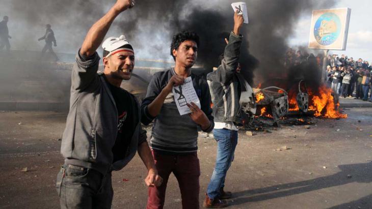 Aktivisten in Alexandria demonstrieren gegen im Dezember 2012 gegen das Verfassungsreferendum; Foto: AFP/Getty Images