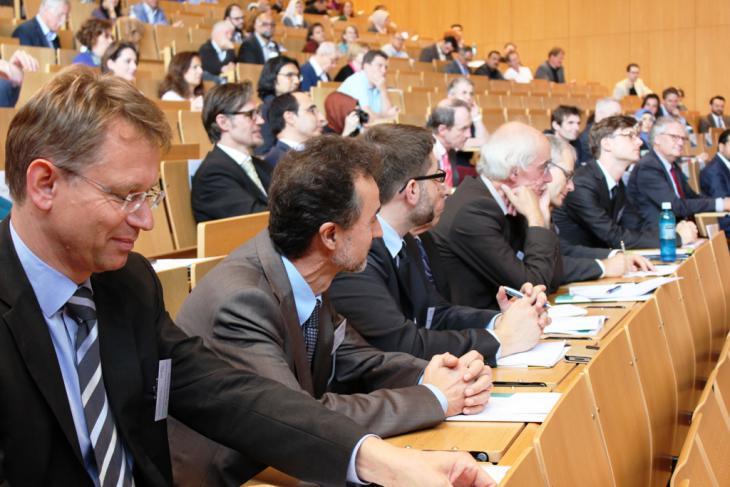 """Teilnehmer """"Kongress 2014 - Horizonte der Islamischen Theologie""""; Foto: Goethe Universität Frankfurt am Main"""