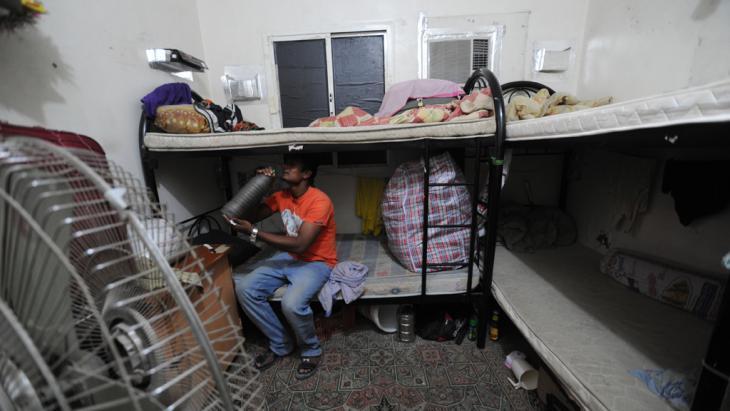 Unterkünfte von Gastarbeitern für den Bau der Fußballstadien in Qatar; Foto: Amnesty International/picture-alliance
