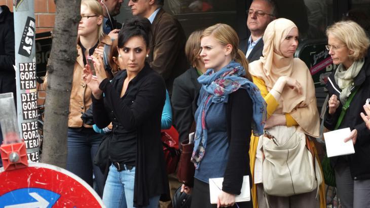 "Aktionstag ""Muslime gegen Hass und Unrecht"" am 19.09.2014; Foto: DW/A. Almakhlafi"