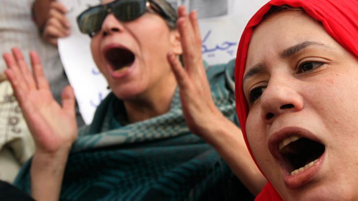 Mitglieder der Bewegung 6. April demonstrieren in Kairo; Foto: Reuters