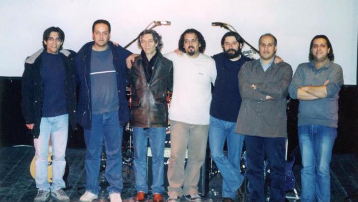 "Iranische Rockband ""Barad""; Foto: hermesrecords"