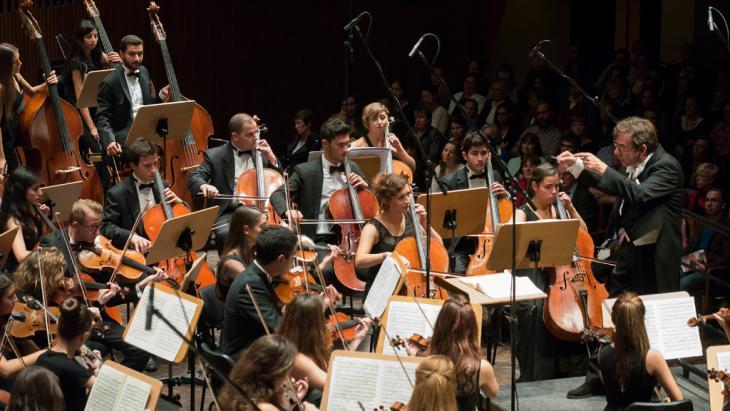 """Aufführung des Werks """"Tableaux Vivants d'une Résistance"""" beim Beethovenfest Bonn; Foto: Barbara Frommann"""