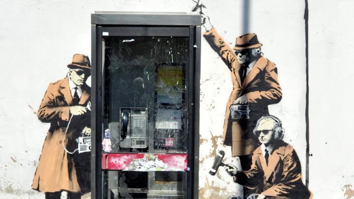 Werk des Street-Art-Künstlers Banksy; Foto: picture-alliance/dpa