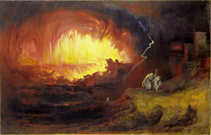 "Gemälde John Martins (1789-1854): ""The Destruction Of Sodom And Gomorrah""; Quelle: wikipedia"