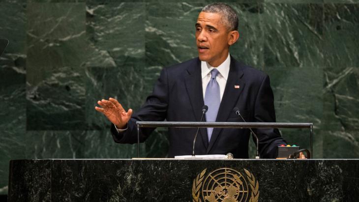 US-Präsident Barack Obama auf der 69. Generalversammlung der Vereinten Nationen am 24. September 2014; Foto; Getty Imgaes/A. Burton