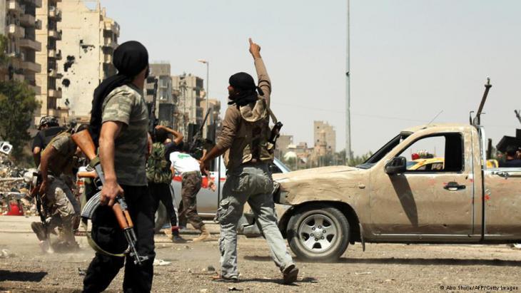 Rebellen im umkämpften Aleppo (Foto: Abo Shuja/AFP/Getty Images)