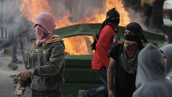 Jugendliche Palästinenser in Shuafat, Jerusalem, am 5.11.2014; Foto: Mohamad Gharabli/AFP/Getty Images