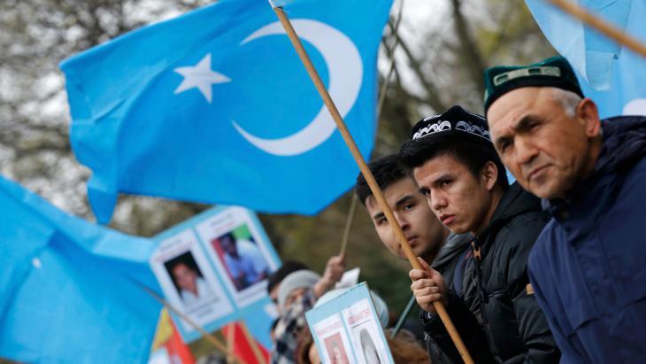 Uiguren-Proteste gegen Chinas Präsident Xi Jinping in Berlin; Foto: Reuters