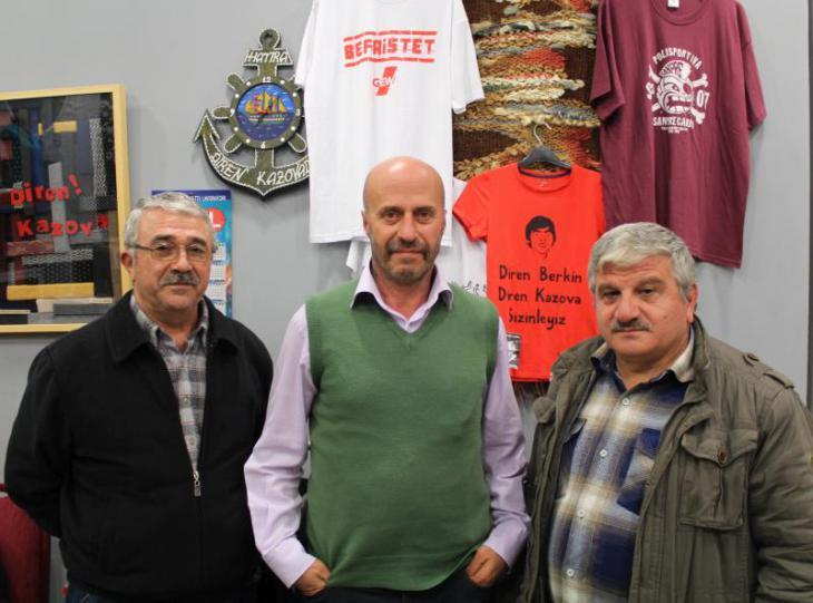 Kazova-Aktivisten Bulut (l.), Özbey und Ceylan (r.); Foto: Ekrem Güzeldere