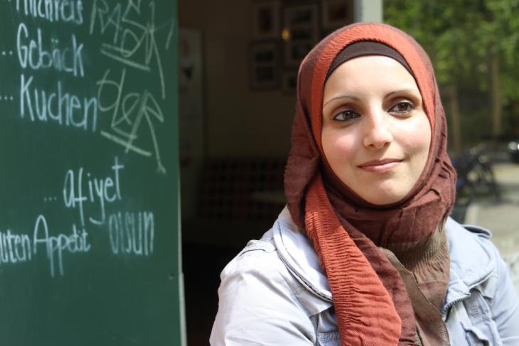Die aus Hebron stammende Heba Tebakhi in Berlin; Foto: Susanne Kaiser